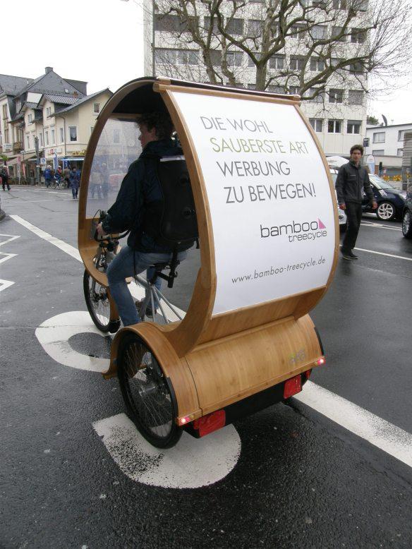 Die wohl sauberte Art, Werbung zu bewegen: bamboo treecycle